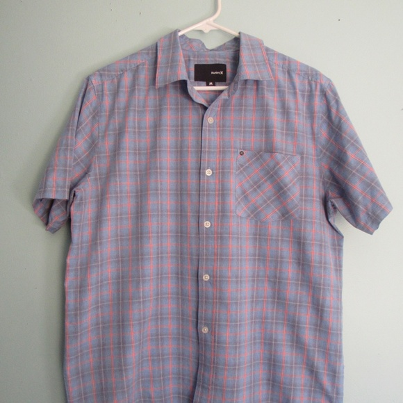 Hurley Other - Men's Hurley Casual Shirt Nike Dri Fit Plaid Sz M